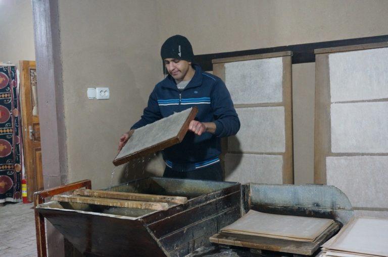ウズベキスタンのサマルカンドペーパー工房
